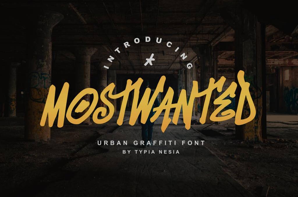 MostWanted Graffiti Font