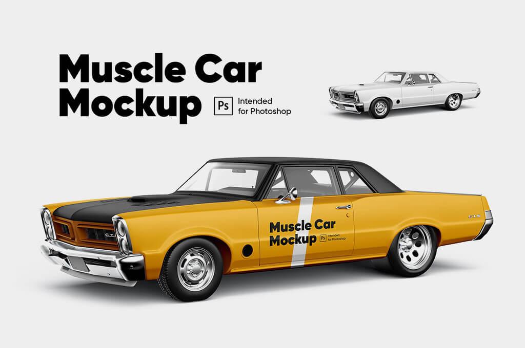 Muscle Car Mockup