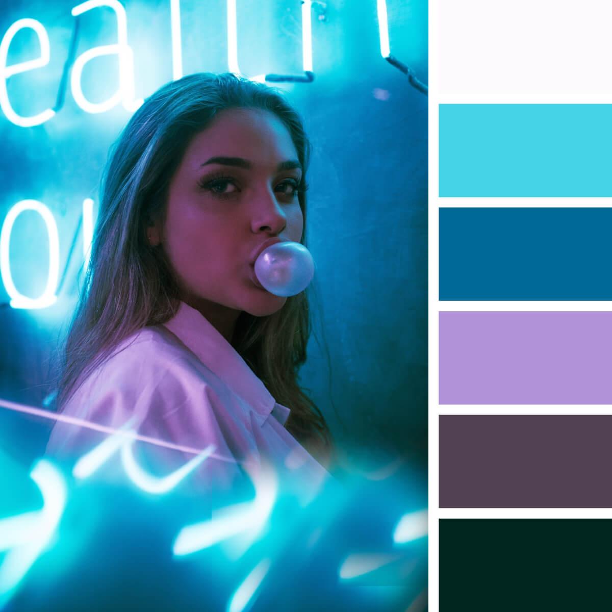 Neon Teal & Violet