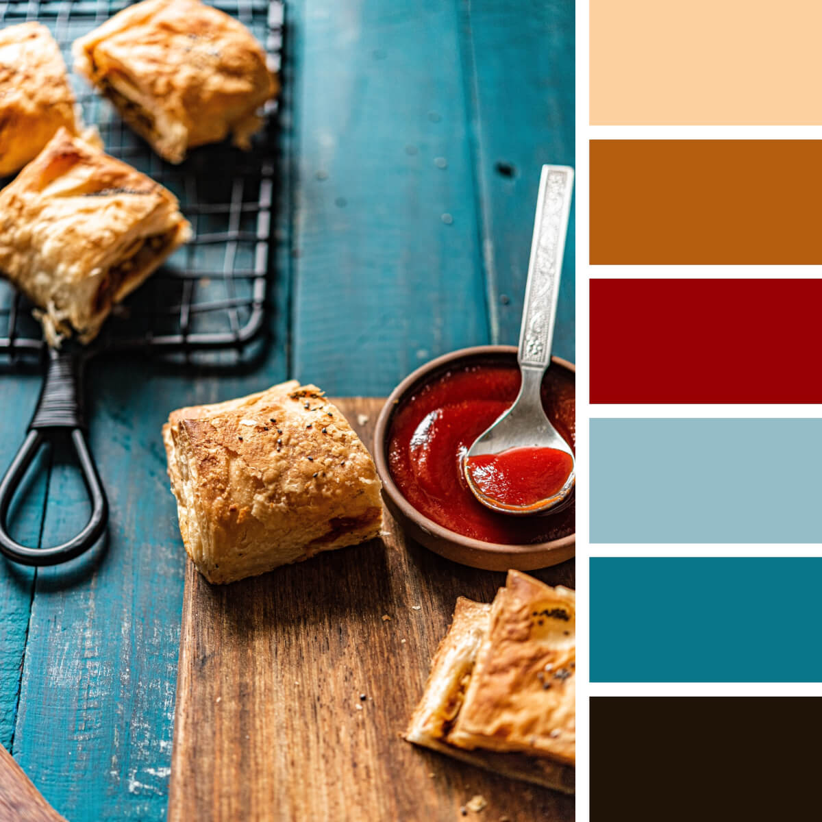 Pastry Beige & Teal