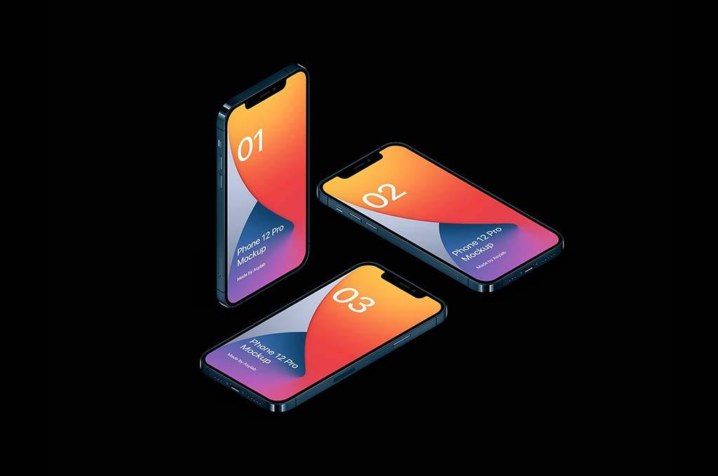 Phone 12 Pro — 20 Mockup Scenes