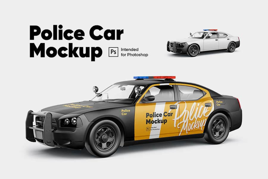 Police Car Mockup