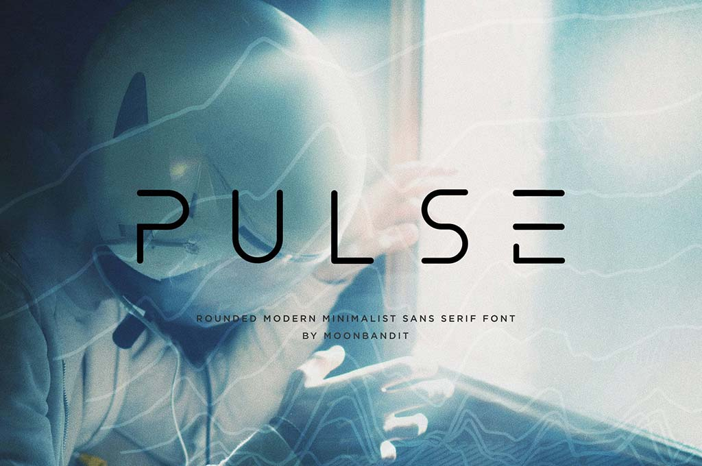 Pulse — Modern Sci-Fi Rounded Font