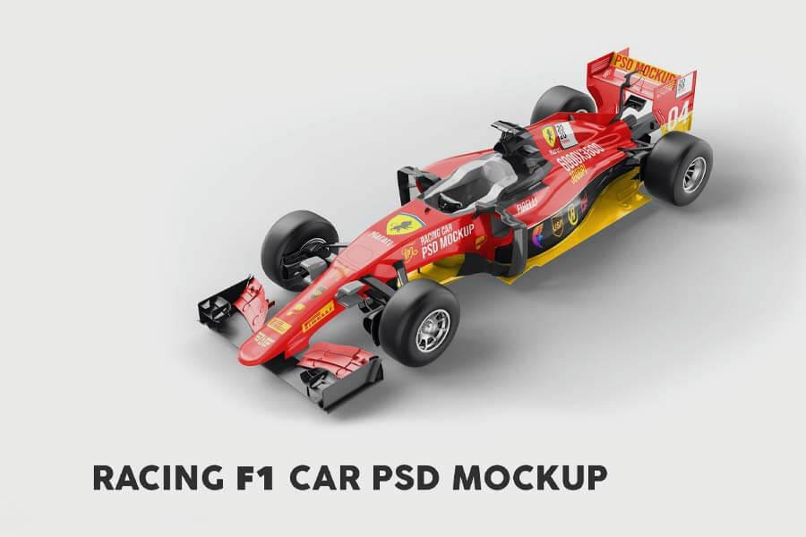 Racing F1 Car PSD Mockup
