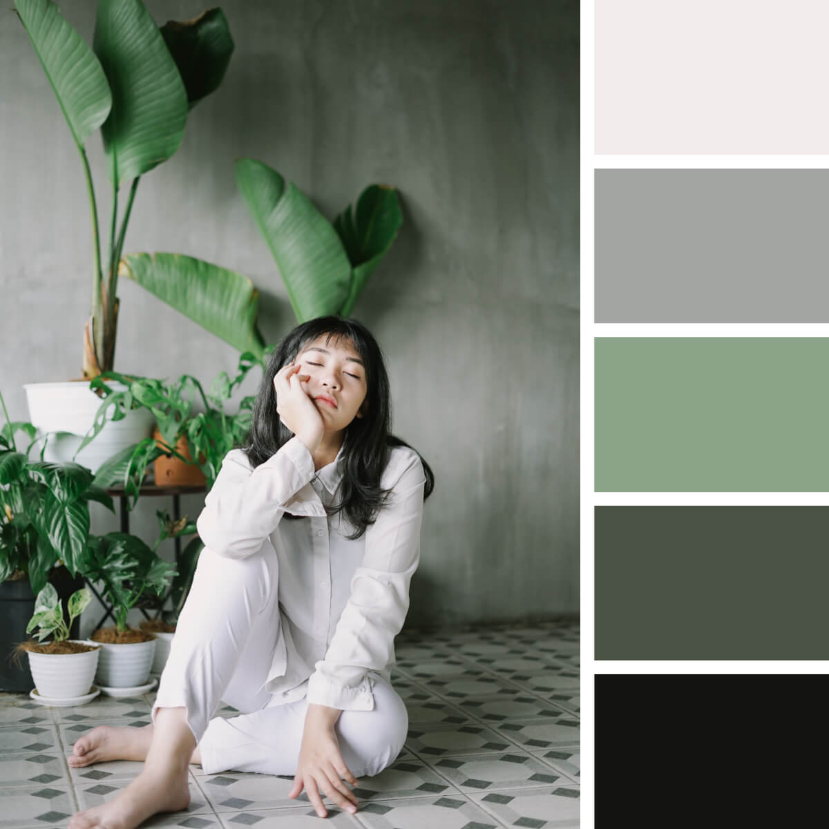 Scandi Green & Gray