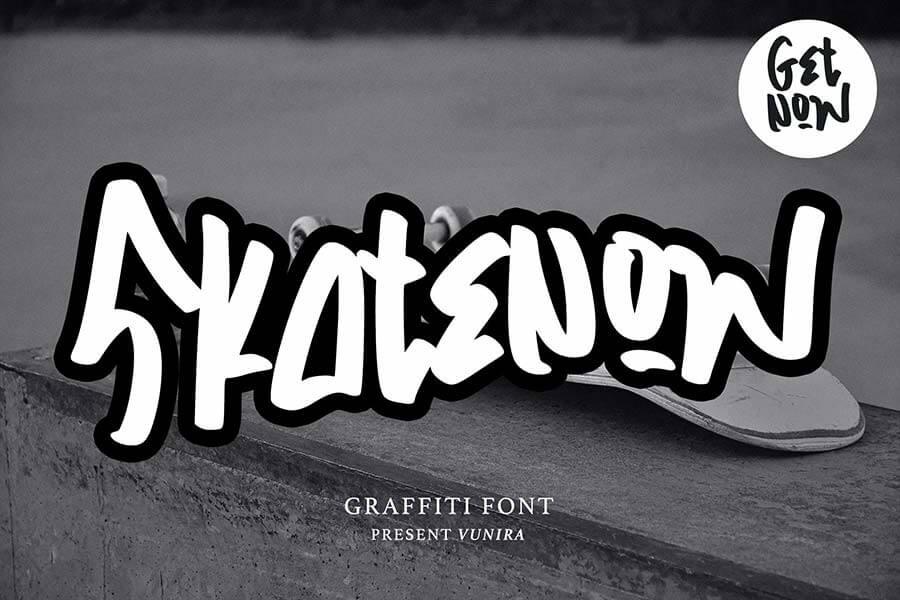 Skatenow   Graffiti Font