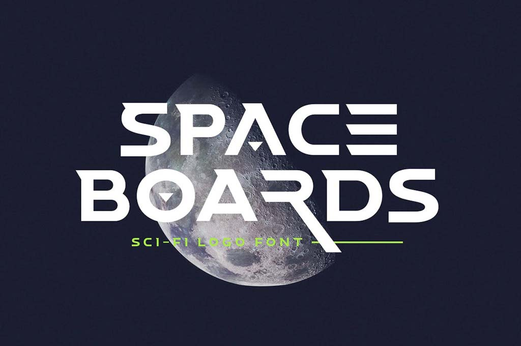 Space Boards — Sci-Fi Logo Font