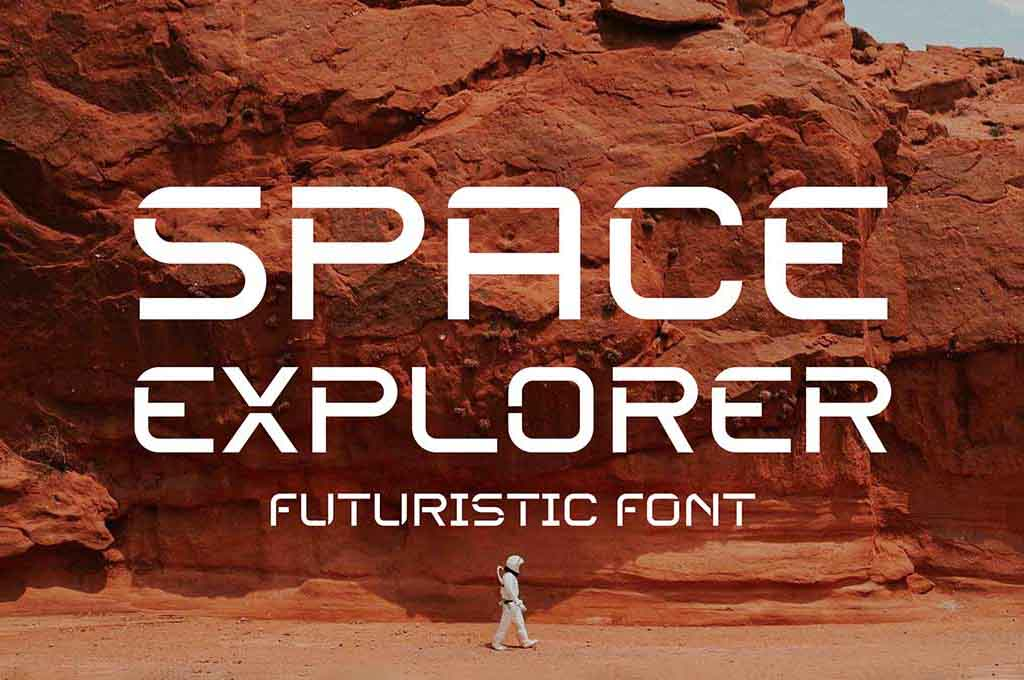 Space Explorer — Futuristic Font