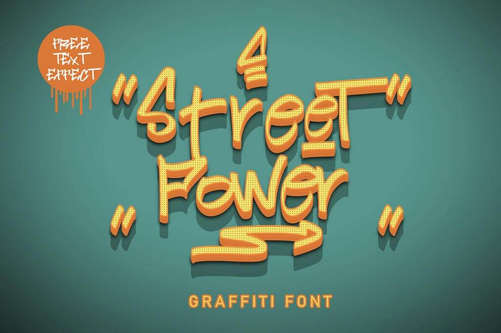 Street Power   Graffiti Font