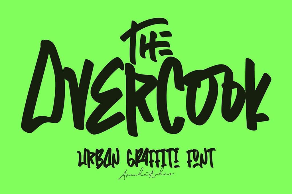 The Overcook   Graffiti Font