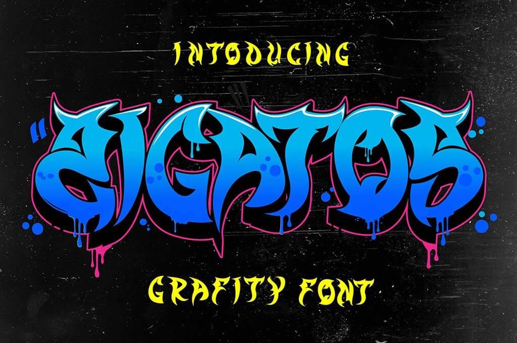 Zigatos - Strong Graffiti Font