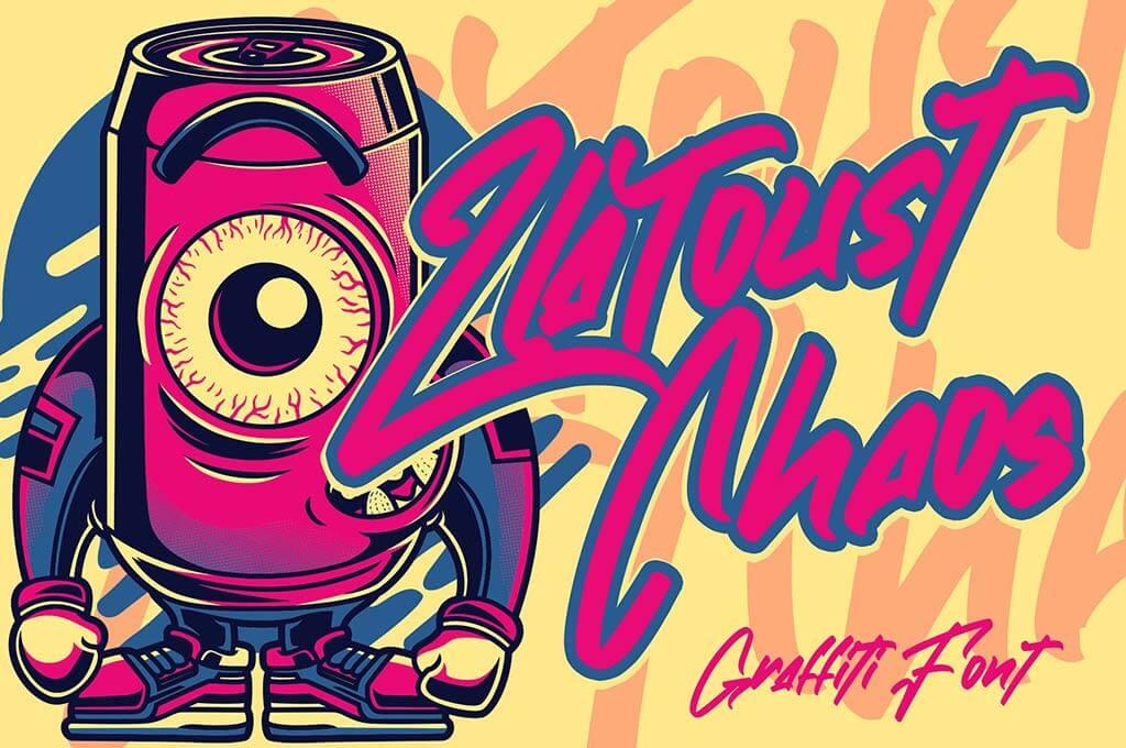Zlatoust Chaos   Graffiti Font