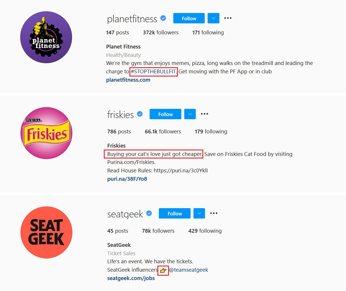 Get creative with your Instagram bio design