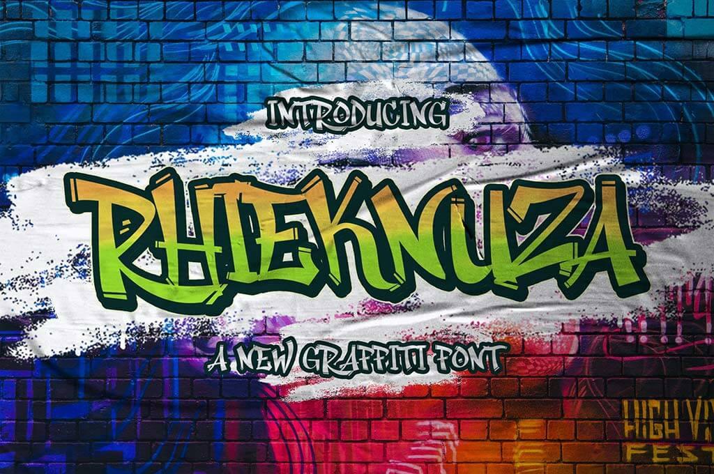 hieknuza - Graffiti Font