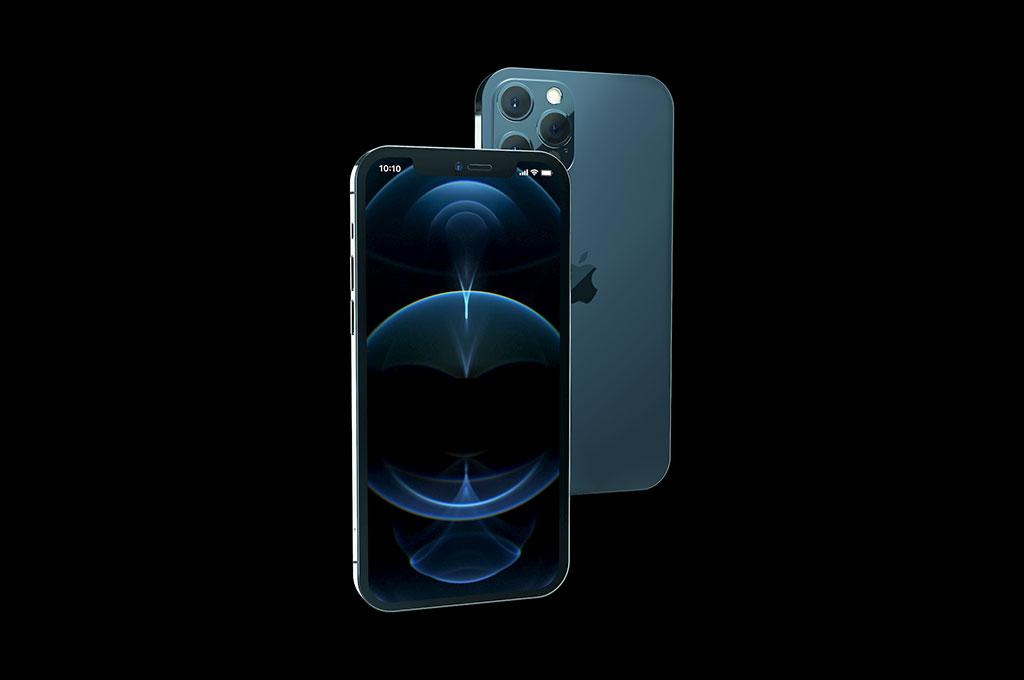 iPhone 12 Pro Isometric Mockup