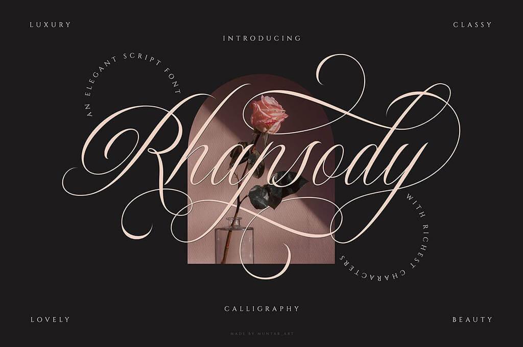 Rhapsody   Calligraphy Script